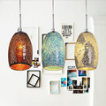 Decoration Pendant 1 Light Tiffany Resin Glass Painting Processing