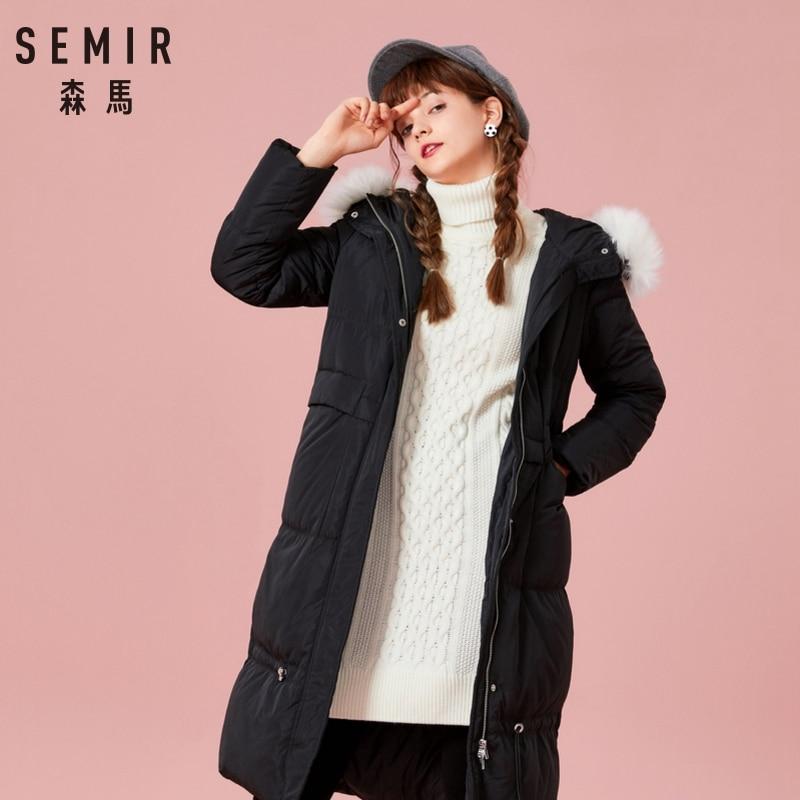4cc0c8139a5 SEMIR New 2018 Winter Jacket Coat Women Down Parka Plus Size XXL Thick Warm  Long Loose Hooded Snow Wear Cotton Padded Jacket