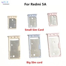 For xiaomi Redmi 5A Big Small SIM Card Tray Holder Micro SD Card Holder Slot Adapter hongmi 5A(China)