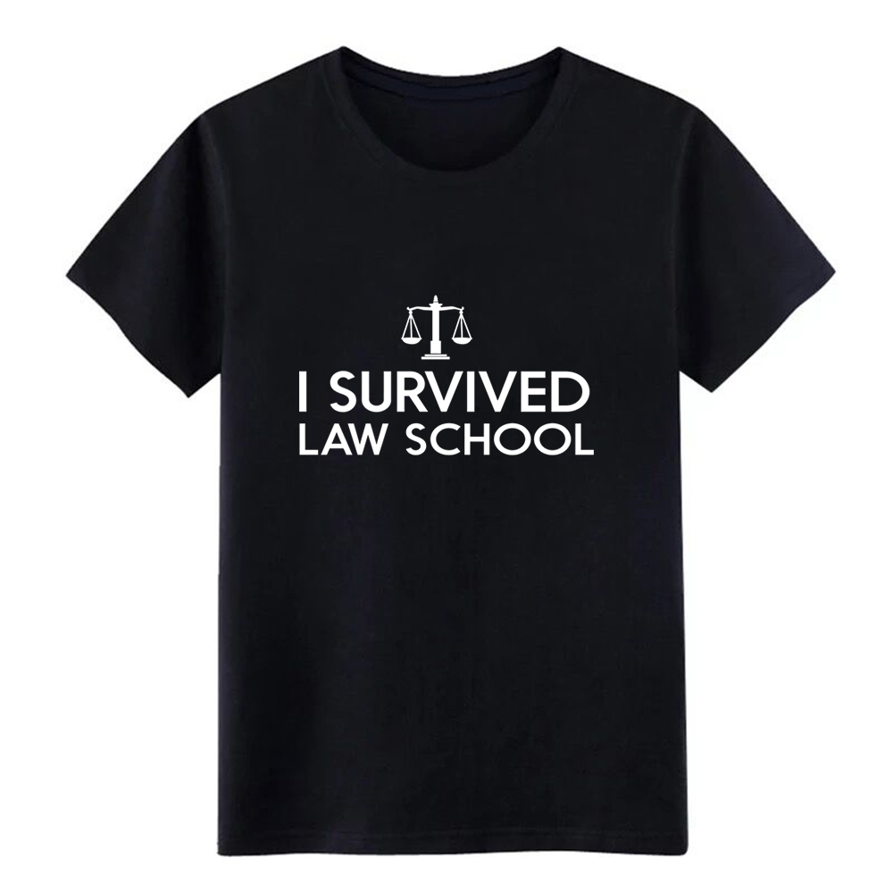 Men's I survived law school t shirt Character tee shirt Euro Size S-3xl Formal Loose New Fashion summer Natural shirt image