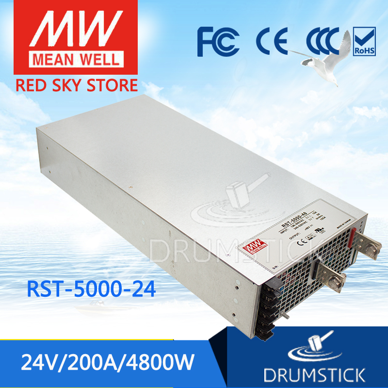 цена на Advantages MEAN WELL original RST-5000-24 24V 200A meanwell RST-5000 24V 4800W Single Output Power Supply