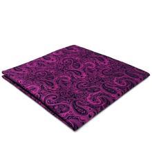 EH15 Фиолетовый Пейсли Мужские Карманные Квадратные Модные Свадебные Классические Платья Hanky