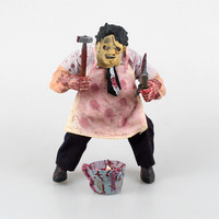Mezco Saw MASSACRE The Texas Chainsaw PVC Action Figure Collectible Model Toy Free Shipping GS0157