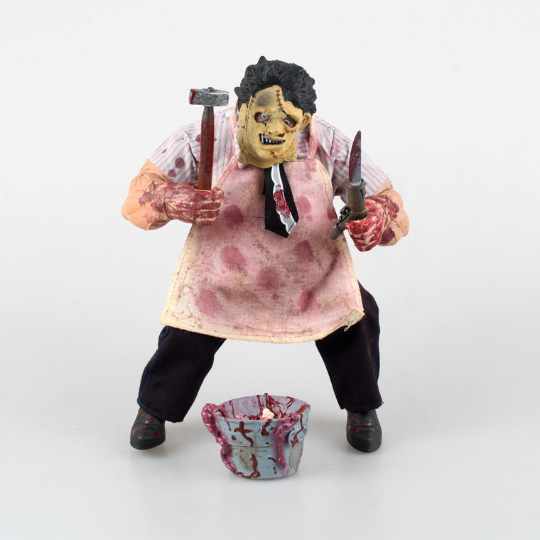 Mezco Saw MASSACRE The Texas Chainsaw PVC Action Figure Collectible Model Toy Free shipping GS0157 neca the texas chainsaw massacre pvc action figure collectible model toy 18cm 7 kt3703