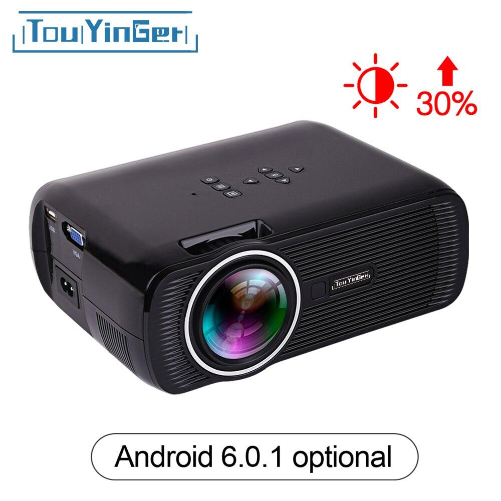 Touyinger everycom X7 мини светодиодный проектор 1800 люмен ТВ Поддержка Full HD 1080 P 4 К (Android 6.0 Ver .) Видео HDMI ЖК-дисплей 3D проектор новый