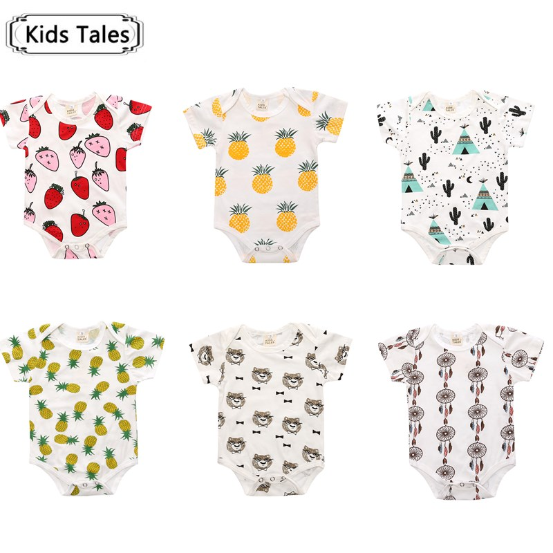 SR077 2018 Fashion character girls clothing setsruffled jumpsuit kids overalls boys animal rompers Summer clothes kids clothes