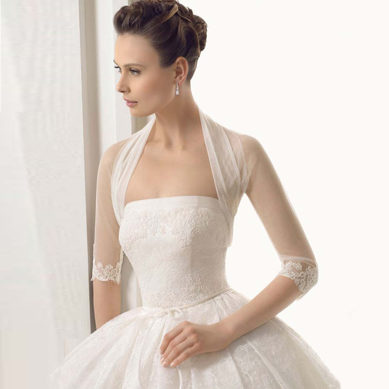 aliexpresscom buy new collection 34 sleeve with appliques wholesaleretail price charming design bridal jacket 100 good quality wedding bolero from