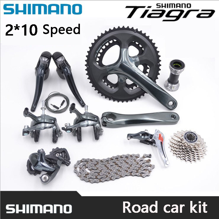 цена на SHIMANO Parts TIAGRA 4700 2x10 Speed Road Car Kit Derailleur Set Shifter Set Bicycle Parts Variable Speed Drive Kit