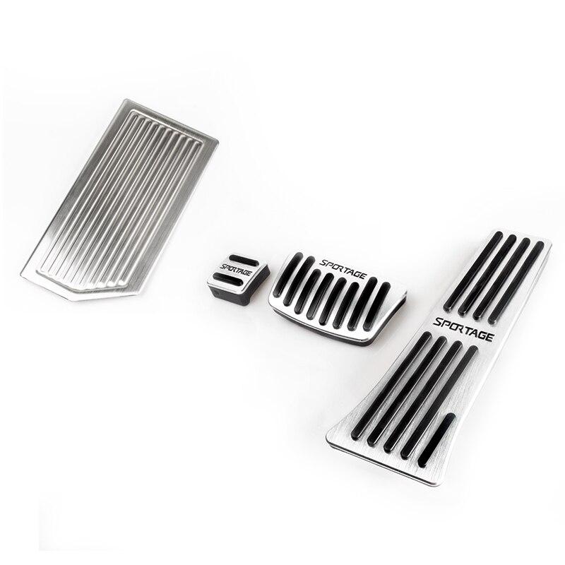 Алюминиевый автомобильный тормоз ножная педаль акселератор отдыха покрытия для педалей Нескользящие Коврик для Kia Sportage 4 аксессуары - Название цвета: 4PCS
