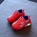 Size 21-30 Fashion child LED sneakers spring autumn lamp luminous leisure children sneakers flashing lights girl boy kids shoes
