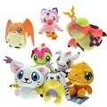 12 cm Digimon Adventure Peluches Agumon Gabumon Piyomon Palmon Patamon Gomamon Tailmon Tentomon Muñecos de Peluche para Regalo de Los Niños