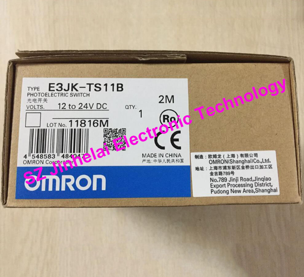 New and original OMRON  PHOTOELECTRIC SWITCH SENSOR E3JK-TS11B   2M 12-24VDC [zob] new original authentic omron omron photoelectric switch e3s cl2 2m