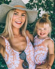 Mother Daughter Swimsuits Beach Bikini Swimwear Dresses Family Look Mommy and Me Clothes Mom Dress Matching Outfits