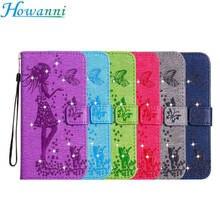 Howanni телефон case для samsung galaxy j7 case флип j700f sm-j700f 2015 5.5 diamond girl бумажник кожаный чехол для samsung j7 case