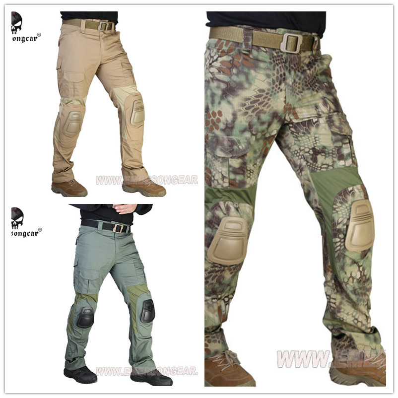 Emersongear G2 Tactical Pants With Knee Pads Airsoft Combat Training Military Trousers EM7038 Coyote Brown Multicam Emerson mgeg militar tactical cargo pants men combat swat trainning ghillie pants multicam army rapid assault pants with knee pads