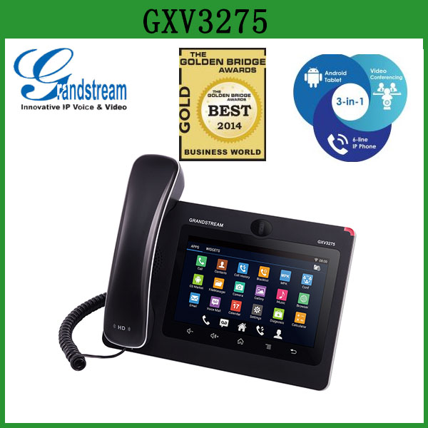 US $390 0 |Grandstream GXV3275 Android Smart Video IP Phone Desktop Voip  Wifi Sip Phone -in VoIP Phones from Computer & Office on Aliexpress com |