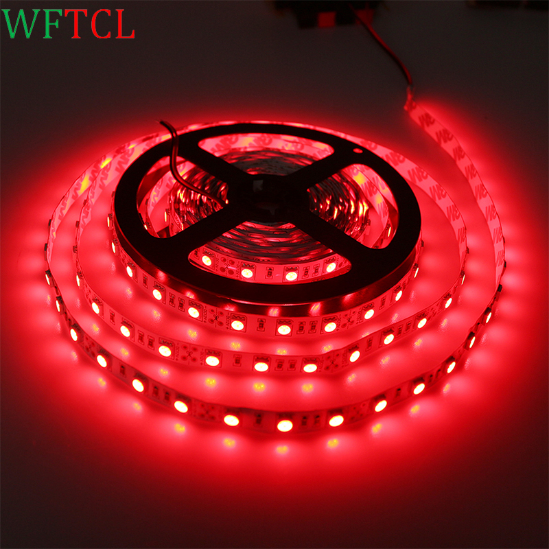 WFTCL LED Strip Lights Red Flexible LED Tape Lights Luzes de tira LED 300LED 5050 LED ribbon lights for home, vehicle lighting