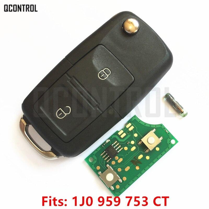 QCONTROL Auto Chiave A Distanza FAI DA TE per VW/VOLKSWAGEN Bora Polo Golf MK4 Transporter 1J0959753CT/5FA009259-00 1999-2009