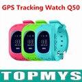 Inteligente Smartwatch SOS GPS Assistir Q50 Bonito Crianças segurança Do Bebê Anti-perdida com Display OLED Passometer Melhor Presente para crianças