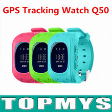 Smart Baby GPS Watch Q50 Cute Children security SOS Smartwatch Anti-lost with Passometer OLED Display Best Gift for kids