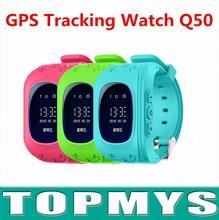 Smart Baby GPS Uhr Q50 Nette Kinder sicherheit SOS Smartwatch anti-verlorene mit Passometer Oled-display Beste Geschenk für kinder