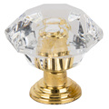 10pcs/set Drawer Furniture Knob Pull Handle Use for Knob Cupboard Cabinet Drawer Fittings  Gold Diamond Crystal Shape Acrylic