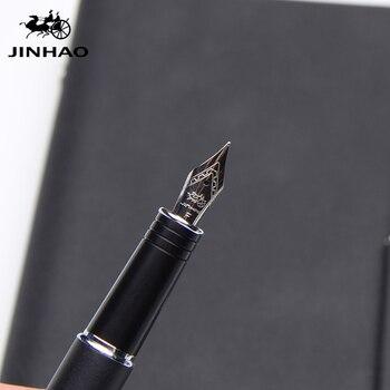 Luxo jinhao fountain pen Fosco Médio caneta canetas de tinta de alta qualidade dolma kalem Nome Do Escritório Papelaria Presente Da Escola Luxo Jinhao Caneta Tinteiro Fosco Médio Caneta Tinteiro Canetas de Alta Qualida Canetas tinteiro     -