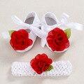 Кот новорожденных Пинетки крещение обувь для девочки, детские стразы впервые уокер детская обувь балерины; девушки крещение комплект