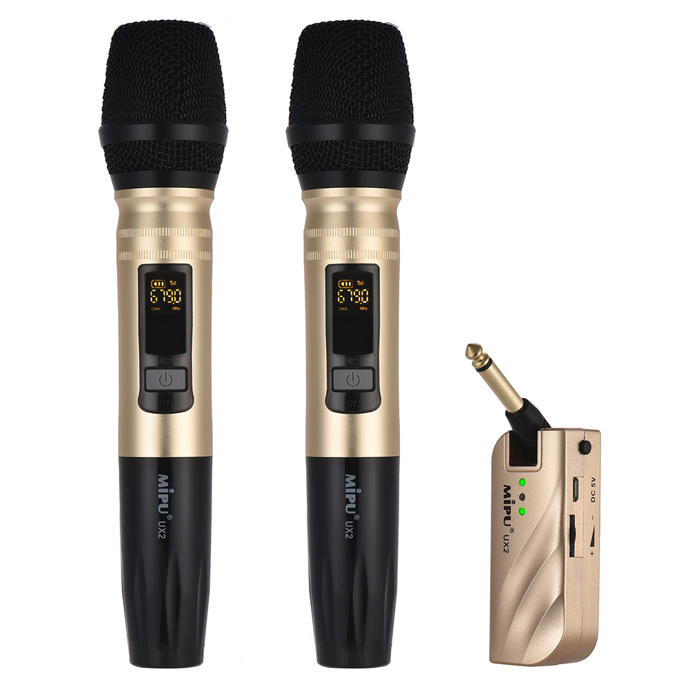 UX2 UHF Wireless Handheld Microphone System with Portable USB Receiver for Karaoke Business Meeting Speech Home