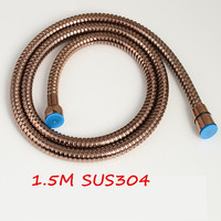 Bagnolux Wholesale SUS304 Stainless Steel 1.5m Shower Hose Flexible Bathroom Water Rose Gold Finish Plumbing Pipe