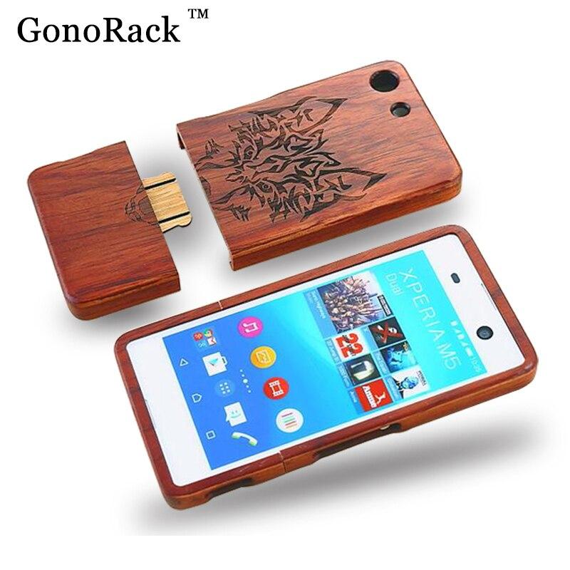 buy online 1b11c e265a US $11.99  100% Natuurlijke Bamboe Hout Case Voor Sony Xperia M5 Houten  Hard Achterkant voor Sony Xperia M5 Dual Cases Beschermende Telefoon Tassen  in ...