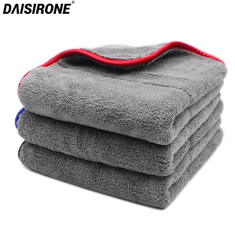 3PCS 1000GSM 48x42cm Ultra-Thick Plush Microfiber Towels Car Cleaning Cloth Auto Wash Waxing Drying Polishing Detailing Towel