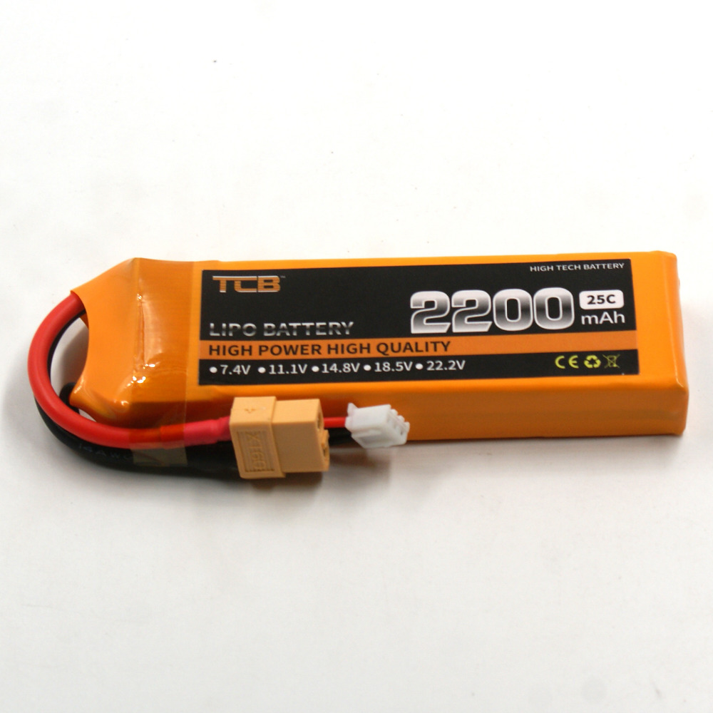 цены  TCB RC lipo battery 7.4v 2200mAh 25C 2s FOR  RC airplane car drone free shipping