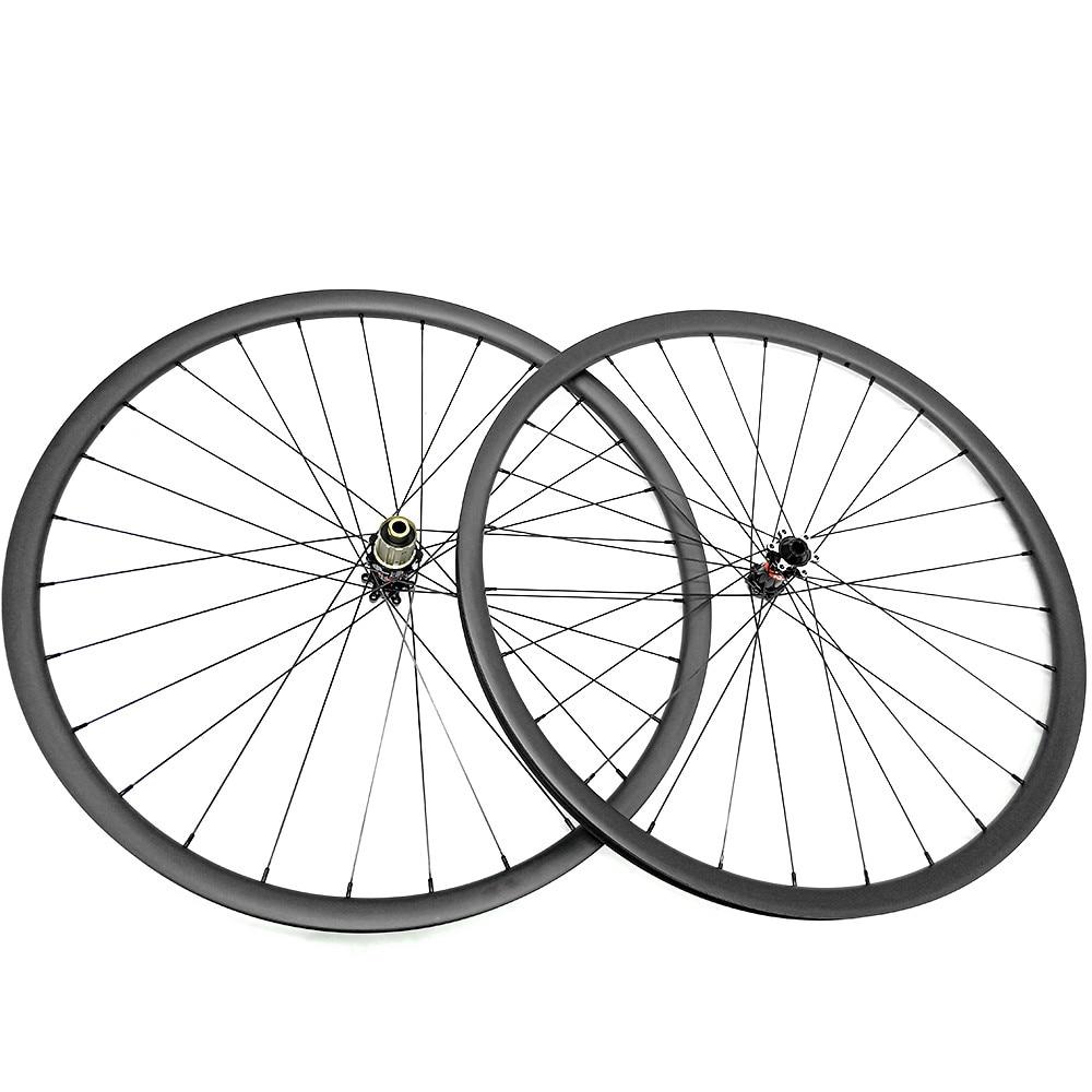 Сверхлегкий 1180 г углерода mtb колёса 27.5er D411SB/S412SB концентраторы 650B велосипед диск 27 мм ширина UD матовая бескамерная 1420 спиц