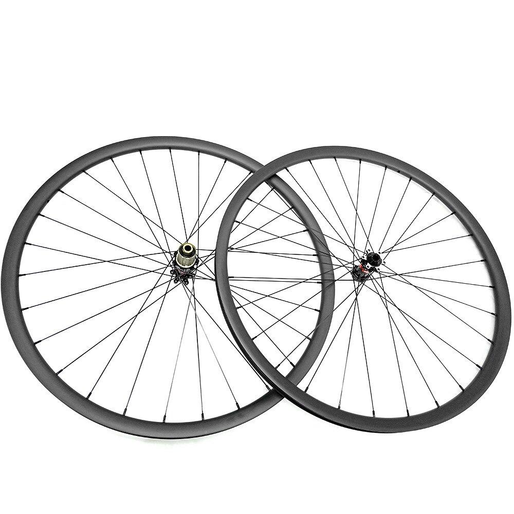 Ultra-léger 1180g de carbone vtt roues 27.5er D411SB/S412SB hubs 650B VTT vélo disque roues 27mm largeur UD mat tubeless 1420 rayons