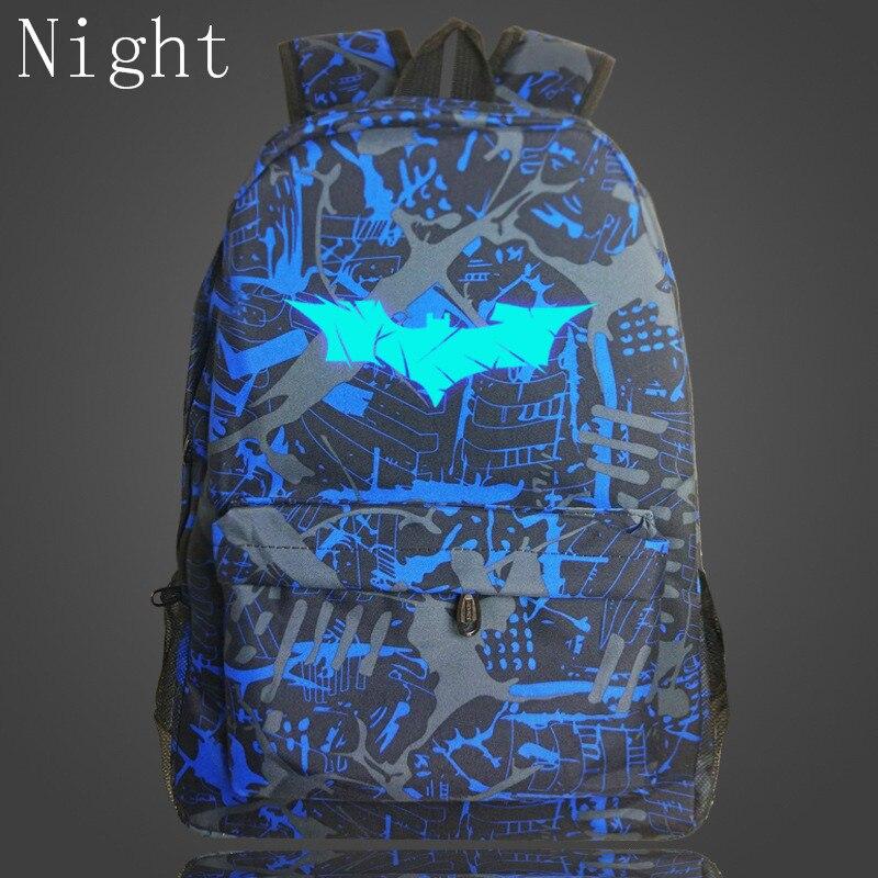 New Hot Batman Backpack For Kids Super Hero Spiderman Bags Girls School Bags For Teenagers Luminous Printing Backpacks Bookbags велосипед navigator super hero girls 18 разноцветный двухколёсный