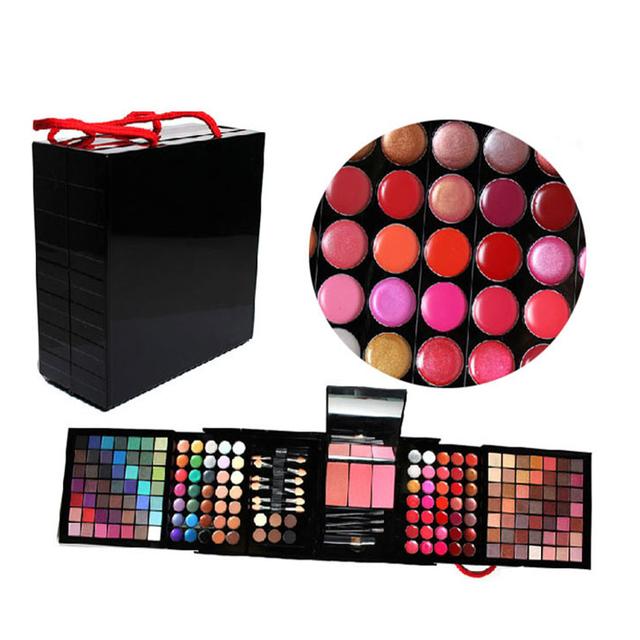 Lo nuevo Profesional de 177 Colores Completos de Sombra de Ojos brillo de Labios Maquillaje Cosmético Shimmer Mate Paleta Sombra de Ojos Se Ruboriza Maquillaje Del Kit Del Sistema