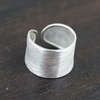 Toptan % 100% Gerçek Saf 925 Ayar Gümüş Yüzük klasik alyans güzel takı erkekler/kadınlar takı açık boyutu rigent halka