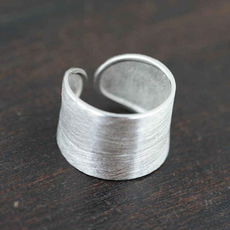 ¡Venta al por mayor! anillo de Plata de Ley 925 auténtica y auténtica de 100%, anillo de boda clásico, joyería fina para hombre y mujer, anillo de plata de ley de tamaño abierto