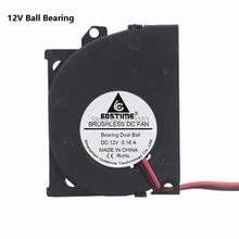 10 Pcs Ball Bearing Brushless DC Cooling fan 0.15A 4010B 12V 40x40x10mm Blower Fan стоимость
