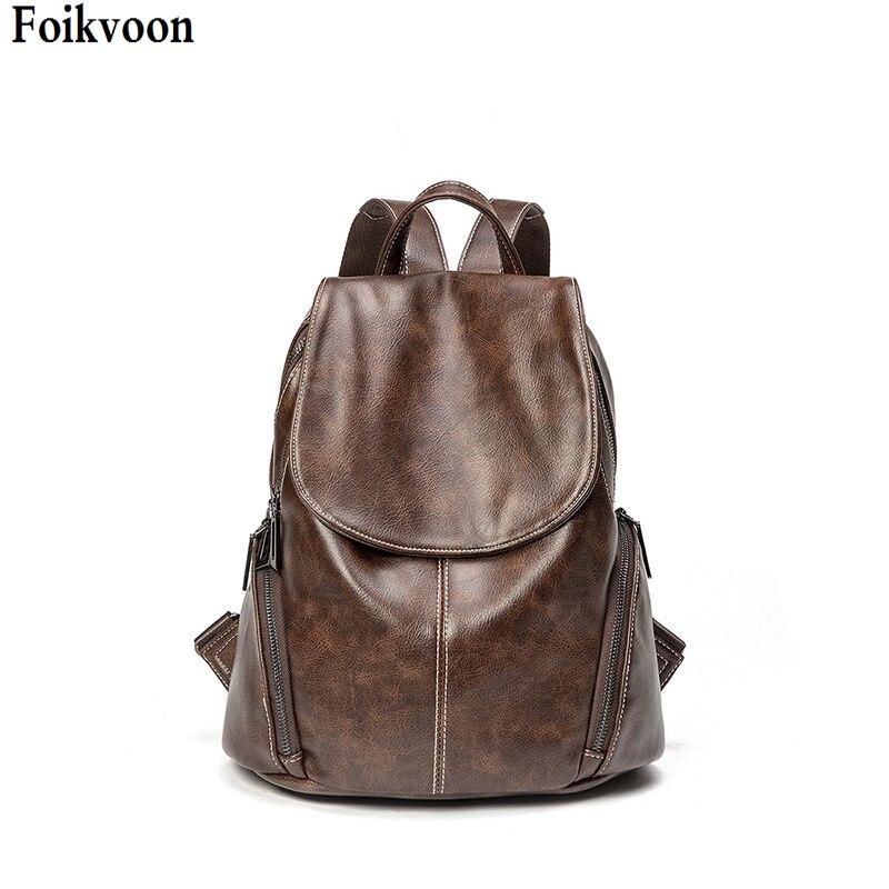 Doux femmes sacs à dos PU cuir femmes sacs à dos de haute qualité mode décontracté capacité étudiant sac à dos sac de voyage femmes
