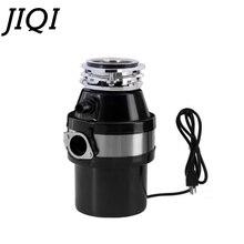 JIQI измельчитель пищевых отходов 370 Вт измельчитель для мусора из сплава с воздушным переключателем из нержавеющей стали кухонная раковина