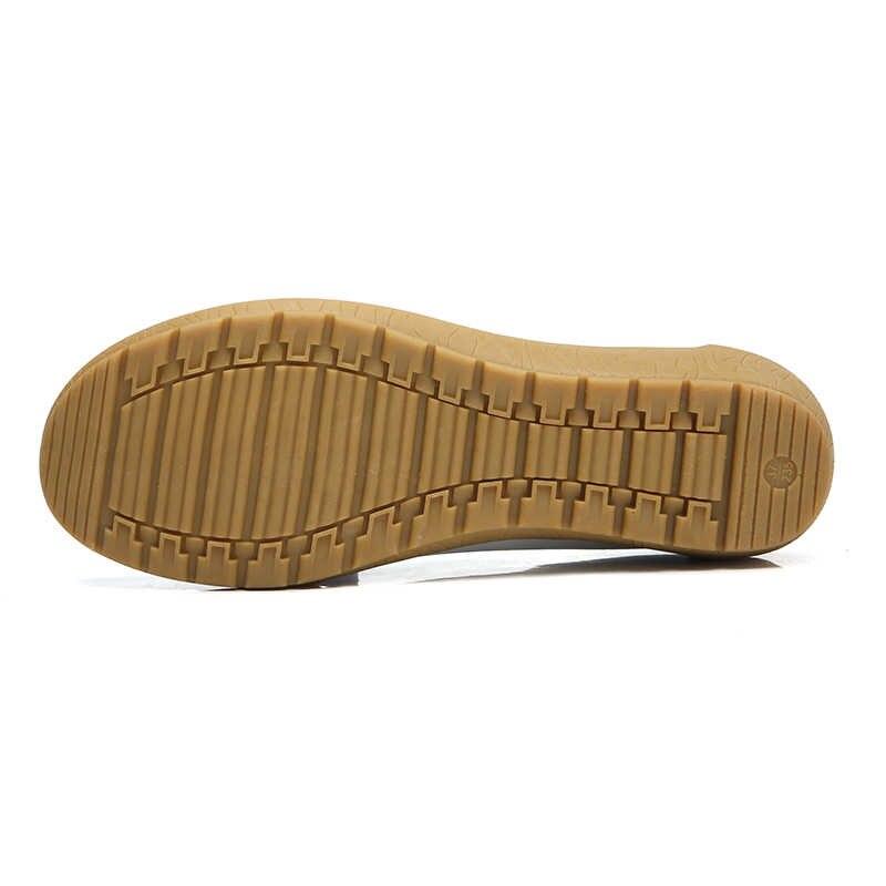 Plardin 2019 סתיו חדש עור בגיל העמידה אמא נעלי נשים של אחת נעלי אפונת נעלי עור רך תחתון טריז ופרס