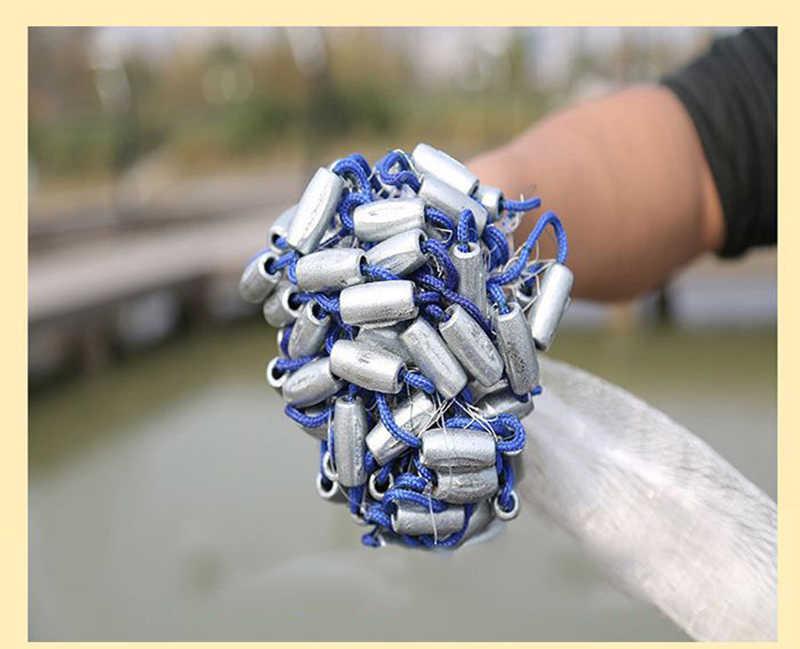 לתפוס דגי יד דיג לזרוק נטו אמריקאי רשת מלכודת יצוק רשת פרפר מלכודת טוס נחיתה רשתות 240/300/ 360 משקולת עופרת T45