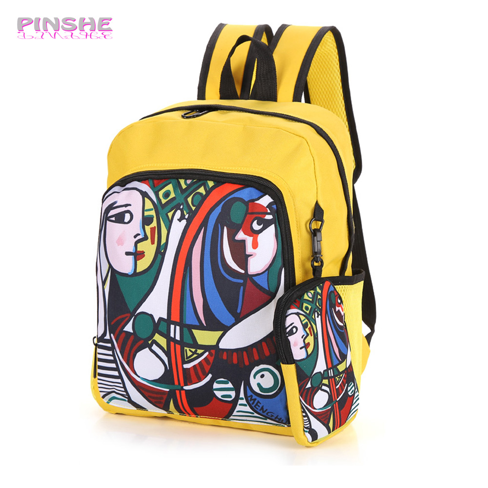 Unisex PU Leather Backpack Yellow Flower Camo Print Womens Casual Daypack Mens Travel Sports Bag Boys College Bookbag