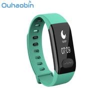 Ouhaobin ECG Smart Bracelet Monitor Heart Rate Blood Pressure Waterproof Sports Bracelet Gift Dec 14 Drop Ship