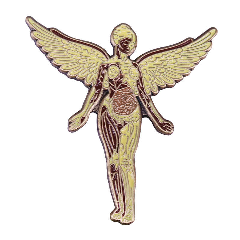 Nirvana In Utero distintivo musica rock pin heavy fan del metal regalo Grunge accessorio