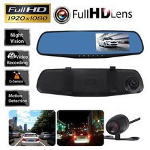 1080P HD Car DVR Dash Camera Mirror 170 Degree 4.3 Inch Display Auto Vehicle Driving Recorder Camera Dash Cam Car Camera Mirror blackview auto hd 1080p 7 inch screen display video recorder g sensor dash cam rearview mirror camera dvr car driving recorder