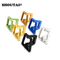 SHOUTAI AUltra Light Bicycle Front carrier Block Bag Bracket Bike Racks For Brompton 7075CNC Folding Cycling Bike Accessories