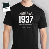 80th Birthday Gift Present Idea For Boys Dad Him Men T Shirt 80 Tee Shirt 1937